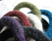 Bangle Bracelets Felted Jewelry Aromatherapy Wool Rainbow