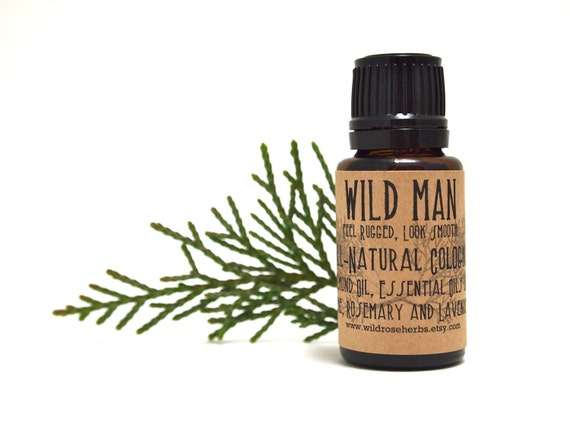 Natural Men's Cologne Wild Man Essential Oils Aromatherapy for Men
