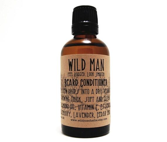 Beard Conditioner Oil Wild Man Beard Softener 50ml Euro Dropper