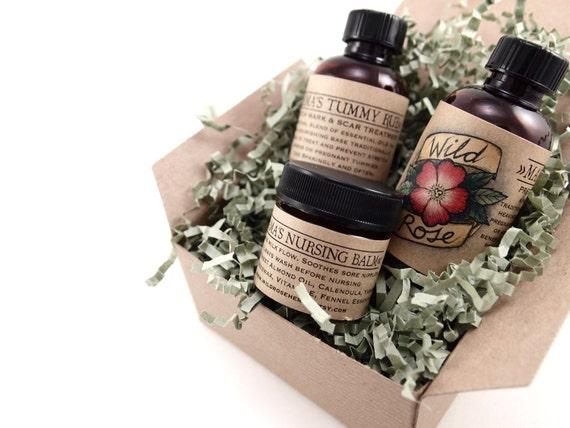New Mom Gift Basket Pregnancy Stretch Marks Massage Aromatherapy
