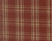 Homespun Fabric Red Tea Dyed Catawba Plaid