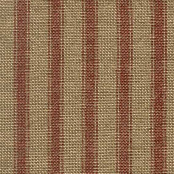 Red Tea Dyed Ticking Homespun Fabric