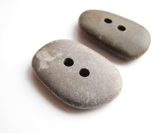 Stone Buttons - Drilled Beach Pebles