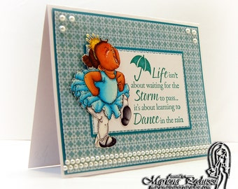 Handmade Greeting Card - Two Tasha