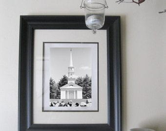 Photo - Black and White from Film - White Chapel Summer