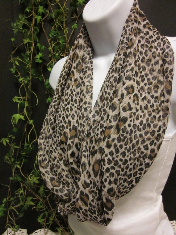 cheetah animal print infinity scarf with a with by