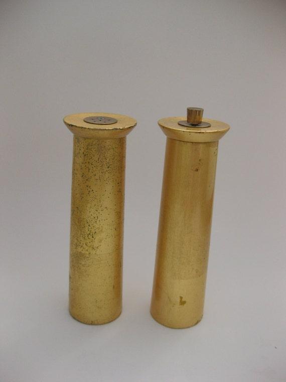 Gold Vintage Salt and Pepper shakers