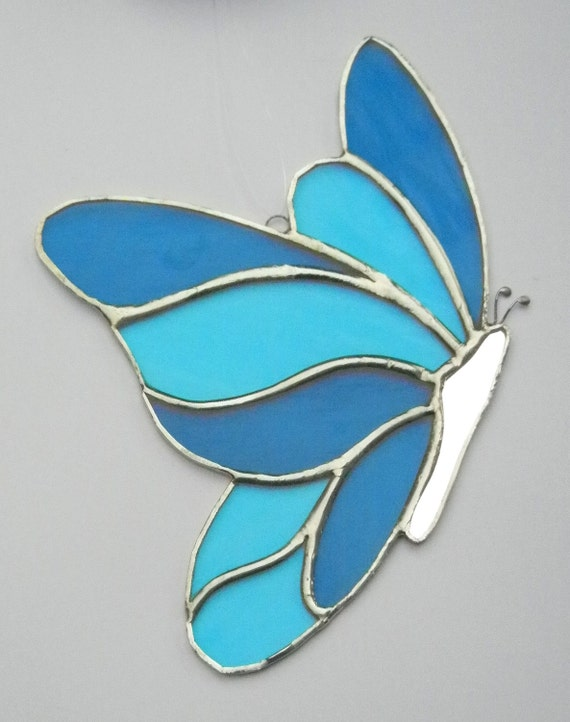 Stained Glass Butterfly Suncatcher -  Custom Colours for Darlene