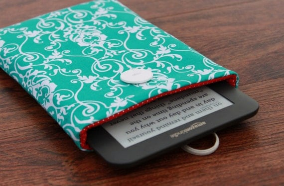 Kindle Touch Cover, Kindle Fire Cover, Kindle Case, Kindle Cover, Kobo Touch, Kindle Keyboard, Kindle 4 Cover, Sony Prs - Turquoise Damask