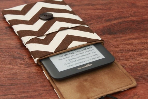 Kindle Fire Cover, Kindle 3 Case, Kindle 3 Cover, Kindle Fire Cover, Kindle Keyboard, Kindle Case, Kindle Cover - Natural Brown Chevron