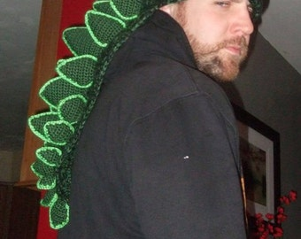 Adult Dinosaurous-Rex Dinosaur Hat- MADE to ORDER - Inspired by Godzilla