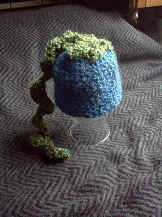 RESERVED FOR RUBA- Blueberry Beanie Hat, Newborn Baby size