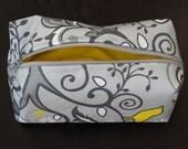 Pretty Tweet boxy zipper pouch