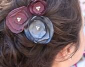 Layered Circle Flower Hair Clip