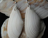 Shells....white seashell earrings