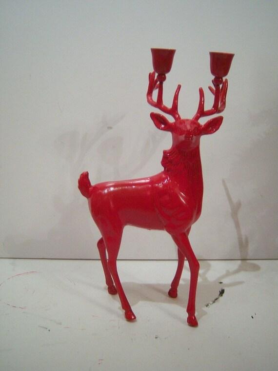 Red Deer Head Stag Contempo Ornate Decor//Brass Metal// Art Sculpture//SALE