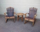 Rocking Chair , Wine Barrel Chair