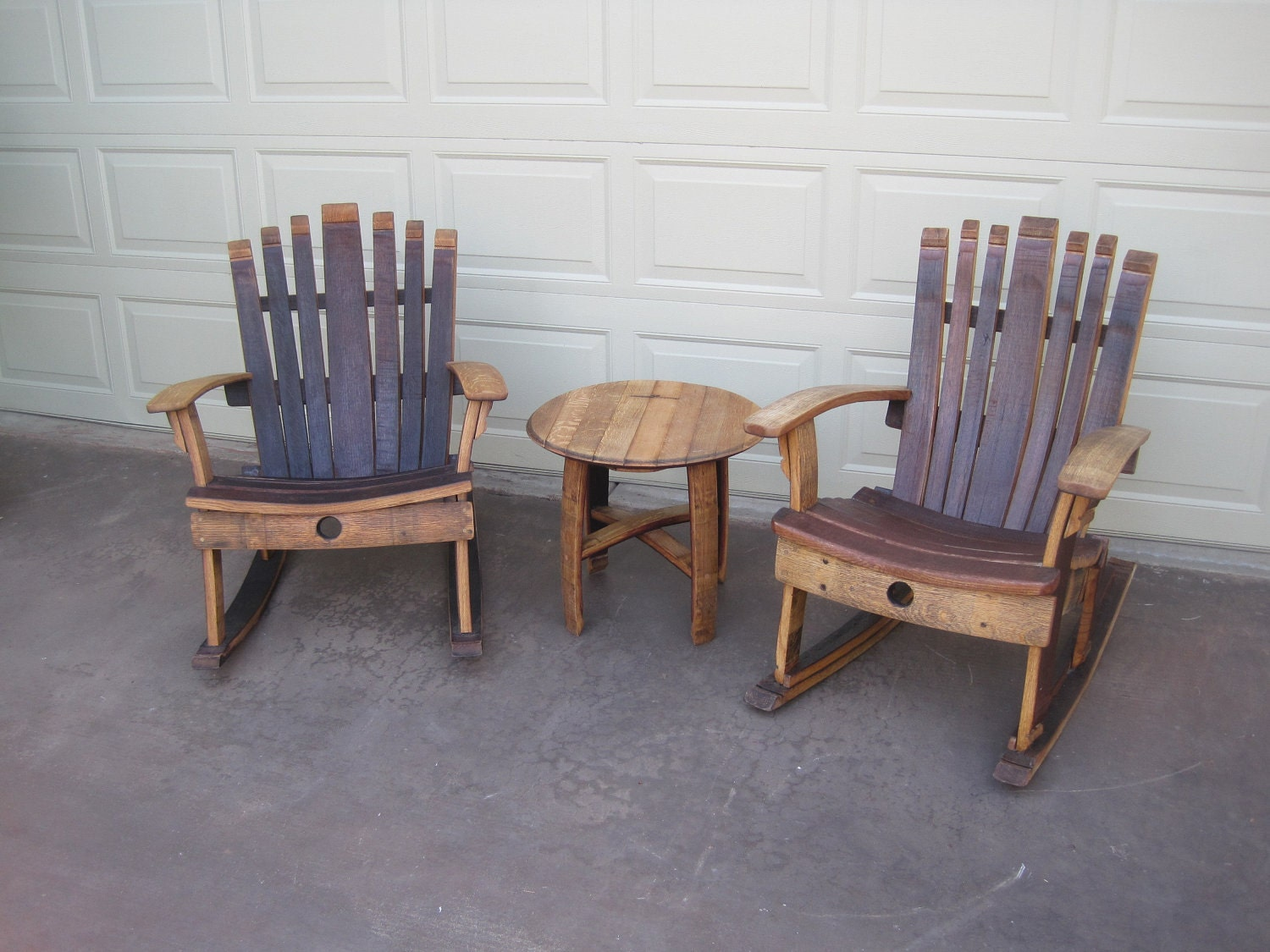 rocking chair wine barrel furniture plans