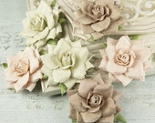 Reserved listing for (SameAsItNeverWasInc) - 14 packages of Arcadian Blush - Mulberry Paper Flowers with glitter sprinkles - 546281 - Roses