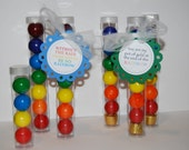 Clear plastic tubes with caps - Qty 12 - gumball tubes - bubble gum tubes - candy tubes - favor tubes - treat tubes