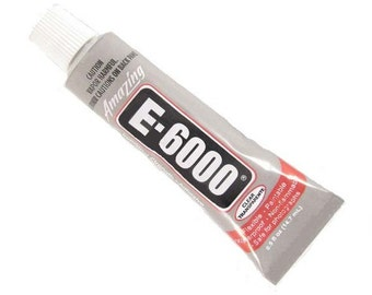 E6000 - .5 oz Jewelry and Craft Adhesive Glue permanent clear for metal  fabric  hair clips  plastic  glass  wood waterproof
