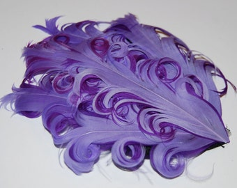 Curly Feather Pad -  Two Tone Lavender on Purple FP102  - (1 piece)