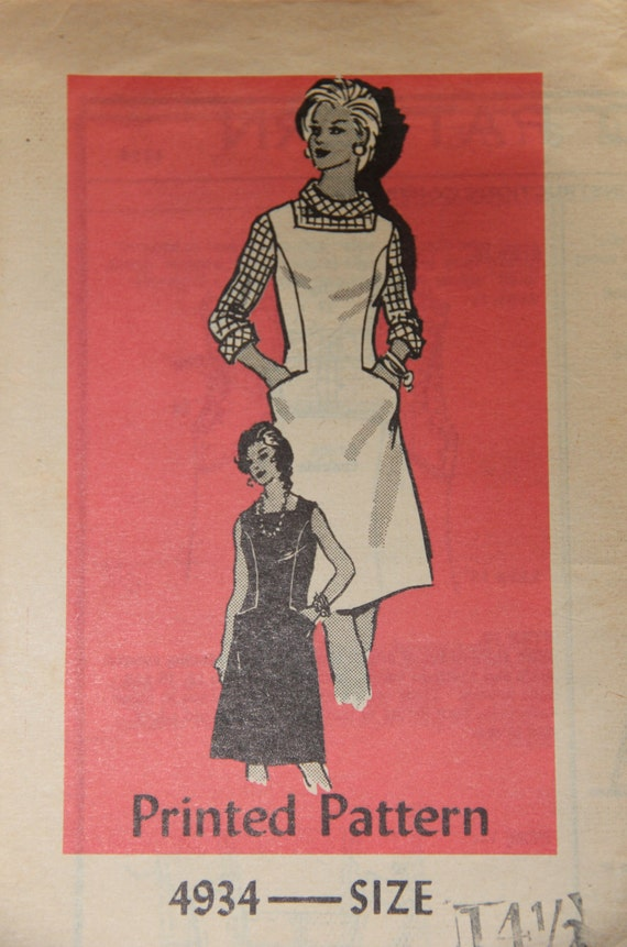 Anne Adams 4934 Vintage Mail Order Pattern One-Piece Dress, Jumper and Blouse in Half Sizes Size 14.5 Bust 37 UC FF
