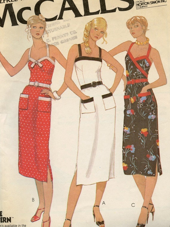 1970s Vintage Mccall S 6658 Fitted Sexy Sundress Pattern
