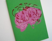 Chrysanthemums 003 - greeting card
