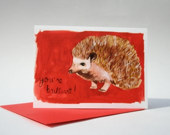 Blank hedgehog card