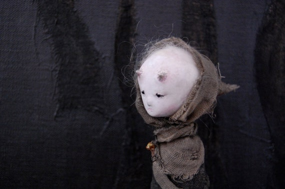 The Wanderer  Paper Clay Art Doll