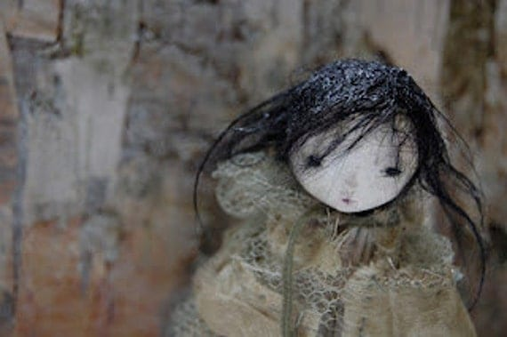Millpond Mildred  OOAK Paper Clay Art Doll ADE EGADS - Reserved.