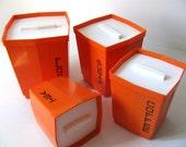 70s Orange MOD Storage Containers-Max Klein Inc. USA