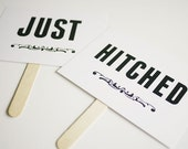 Just Hitched Wedding Sign Printable - Photo Prop Signs