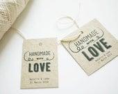 Fun Handmade with Love Wedding Favor Tags Printable