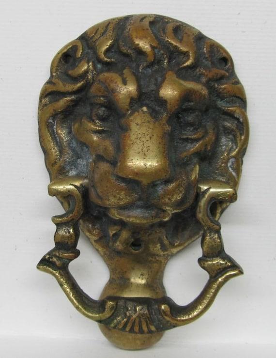 Sale reduced brass door knocker lion head - Antique brass lion head door knocker ...