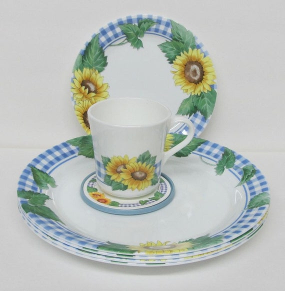 Corelle Sunflower Dinnerware Set Corning Sunsations 16