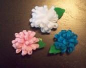 Mini Mums Felt Flower Hair Clip - Pick Your Color