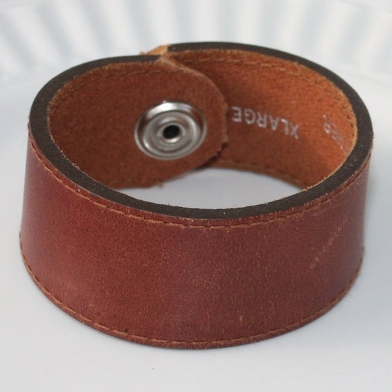 """Leather Cuff Bracelet - Upcycled Brown Leather - 7"""" bracelet - stacking bracelet - Leather Cuff, upcycled bracelet, upcycled cuff, boho cuff"""