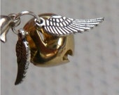 Golden Snitch Silver and Gold Tone Mini Bell Charm