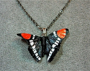 California Sister butterfly necklace