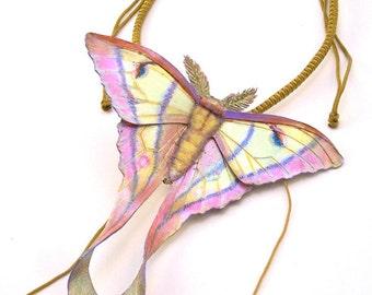 Rosy Luna Moth Brooch