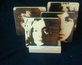 Beatles (4 Faces) Coasters, Branded - Solid Pine Wood