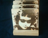 Bob Dylan Coasters, Branded - Solid Pine Wood