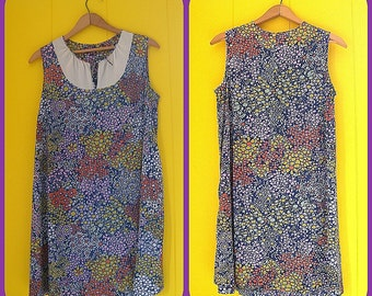 Vintage Nightgowns Set Polyester Flowered Dresses Boho 60s Clothing