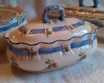Antique French romantic  bathroom porcelainesoap dish and others
