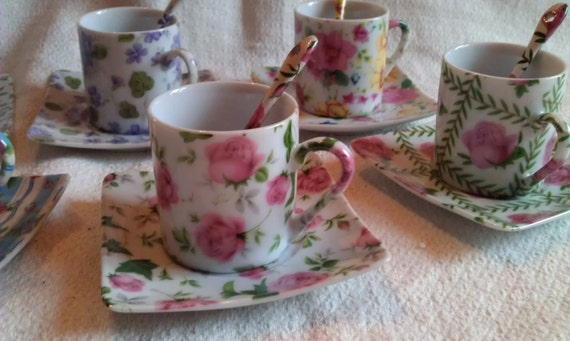 vintage set of expresso cups and saucers.