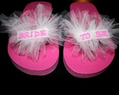 Bride-to-Be Flip Flops