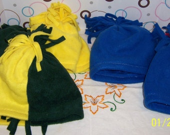 Handmade Game Day Fleece Hat and Scarf Sets