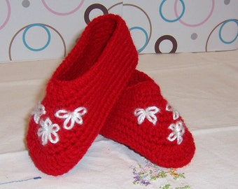 Red size 10 Toddlers Slippers